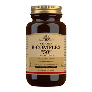 Vitamin B-Complex ''50'' High Potency - 250 Vegetable Capsules