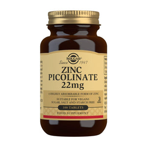 Zinc Picolinate 22 mg - 100 Tablets