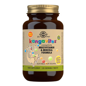 Kangavites Tropical Punch Complete Multivitamin and Mineral Formula - 120 Chewable Tablets