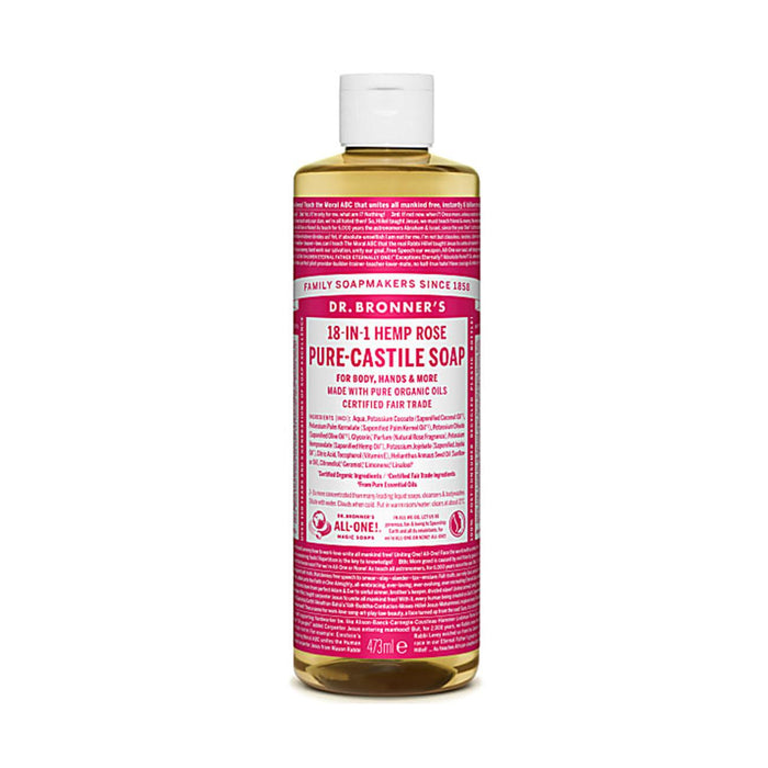 Rose Pure-Castile Liquid Soap 473ml