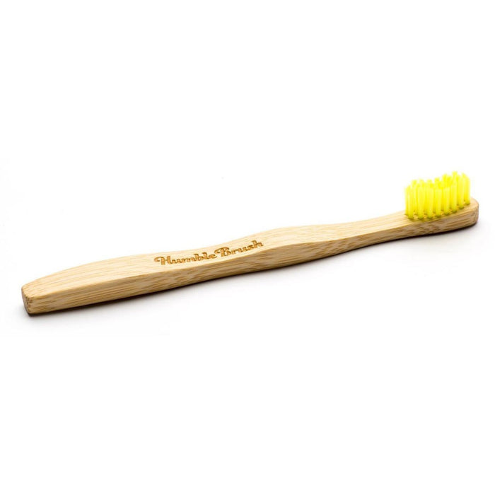 Eco Friendly Bamboo Kids Toothbrush Ultra Soft Yellow