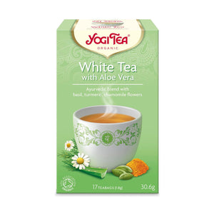Organic Aloe Vera White Herbal Tea 17bag