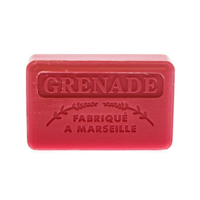 French Marseille Soap Grenade (Pomegranate) 125g