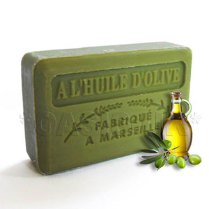 French Marseille Soap Huile de Olive (Olive Oil) 125g