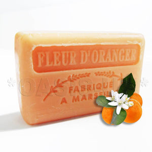 French Marseille Soap Fleur d'Oranger (Orange Flowers) 125g