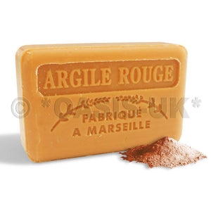 French Marseille Soap Argile Rouge (Red Clay) 125g