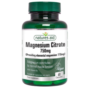 Natures Aid Vegan Magnesium Citrate Tablets 750mg 60 Tablets