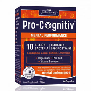 Pro-Cognitiv 10 Billion Bacteria Probiotics Mental Performance 60 Capsules