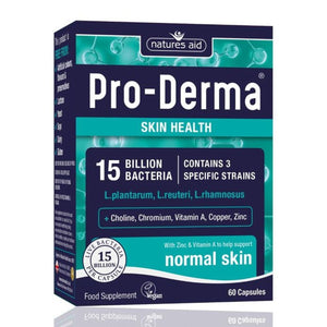Pro Derma 15 Billion Bacteria Skin Health Probiotics 60 Capsules