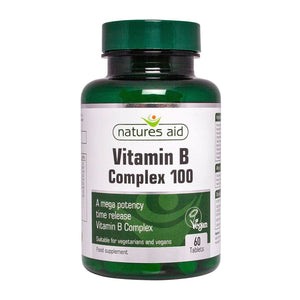 Vitamin B Complex 100 Mega Potency Time Release 60 Tablets