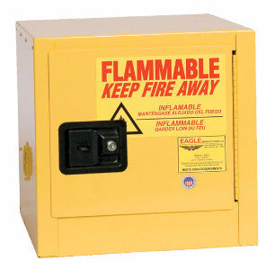 Eagle 2 Gallon Flammable Liquid Safety Storage Cabinet- Yellow, One Shelf