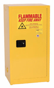Eagle 16 Gallon Flammable Liquid Safety Storage Cabinet-Yellow, 1 door, 1 Shelf