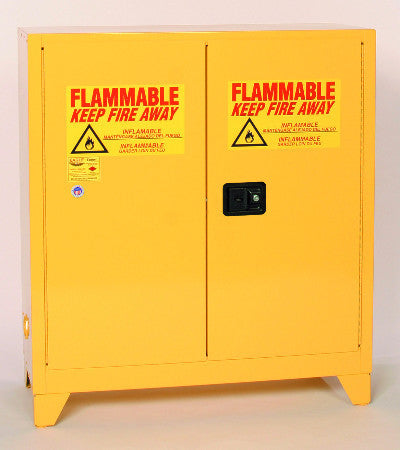 Eagle 30 Gallon Flammable Liquid Safety Storage- Yellow, Two door, One Shelf