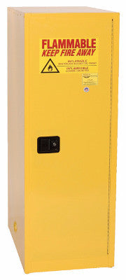 Eagle 48 Gallon Flammable Liquid Safety Storage- Yellow, One door, Three shelves