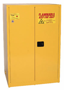 Eagle 90 Gallon Flammable Liquid Safety Storage- Yellow, Two door, Three shelves