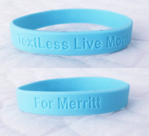 TEXTLESS LIVE MORE Bracelet