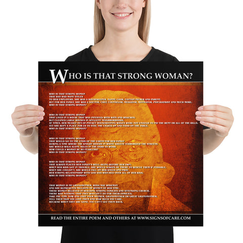 Who Is That Strong Woman Poster