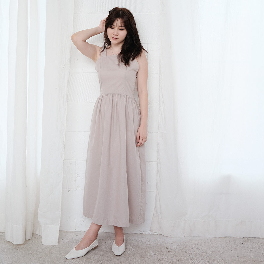 JiWoo Korean Midi Dress