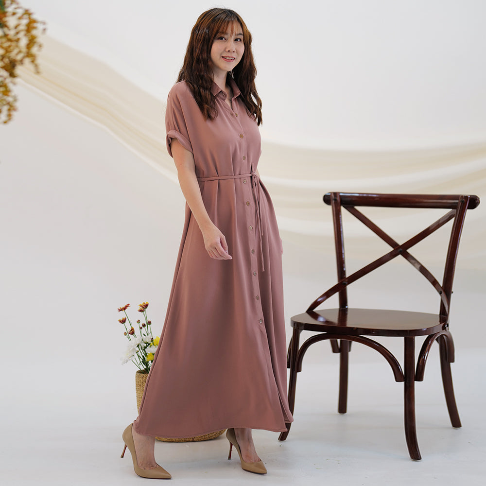Kelsy Simple Long Dress