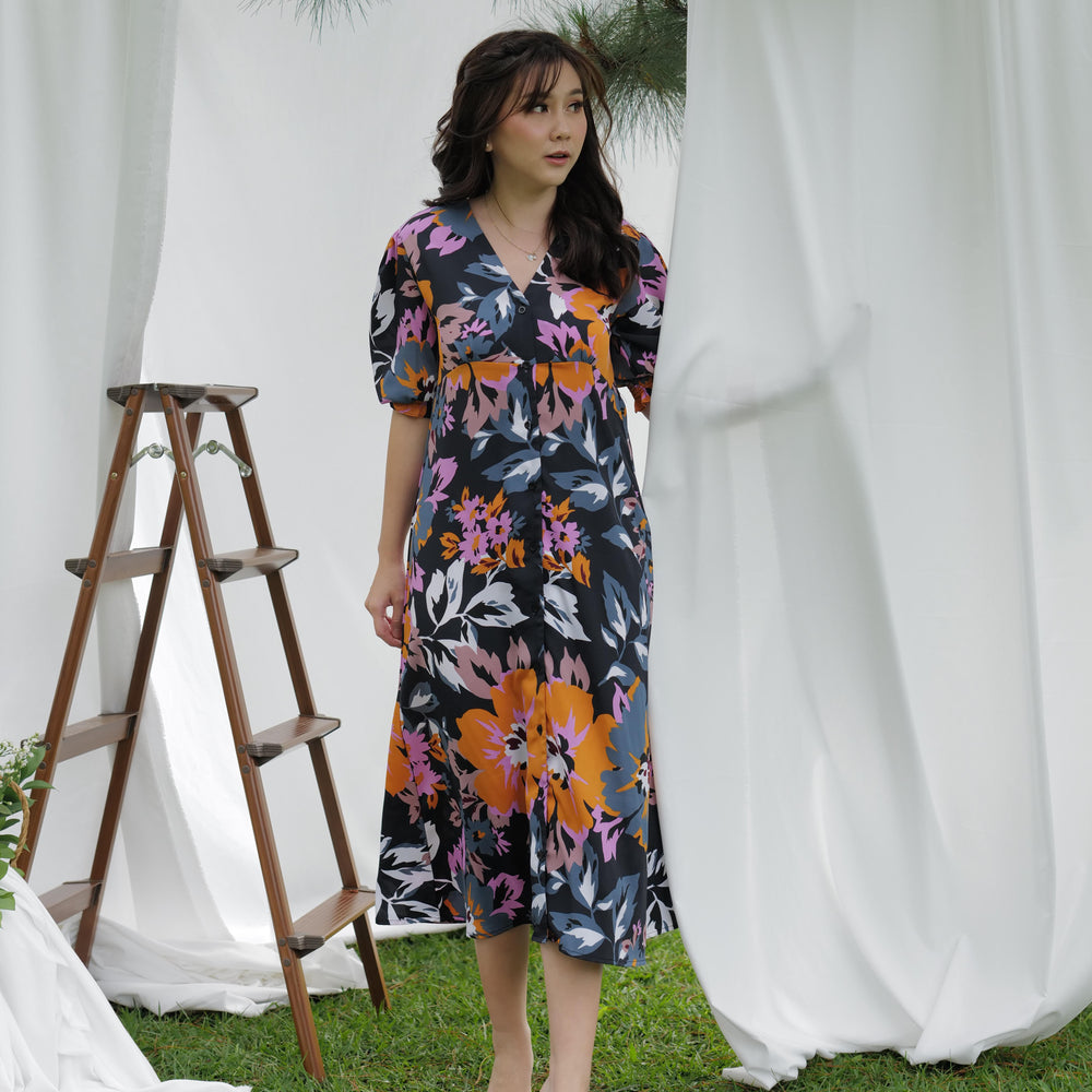 Load image into Gallery viewer, Nona Pattern Long Dress