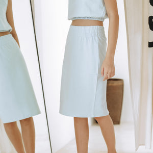 Load image into Gallery viewer, Dotty Simple Midi Skirt