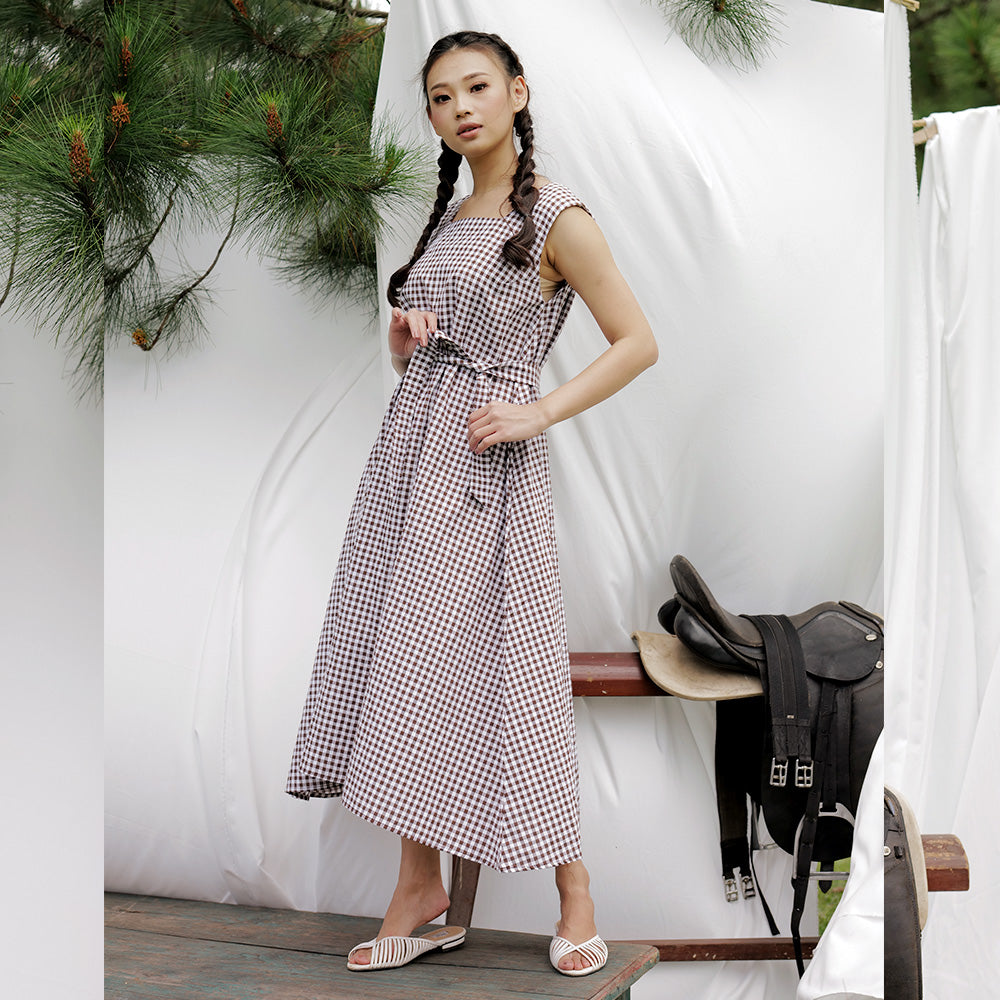 Sabine Simple Midi Dress
