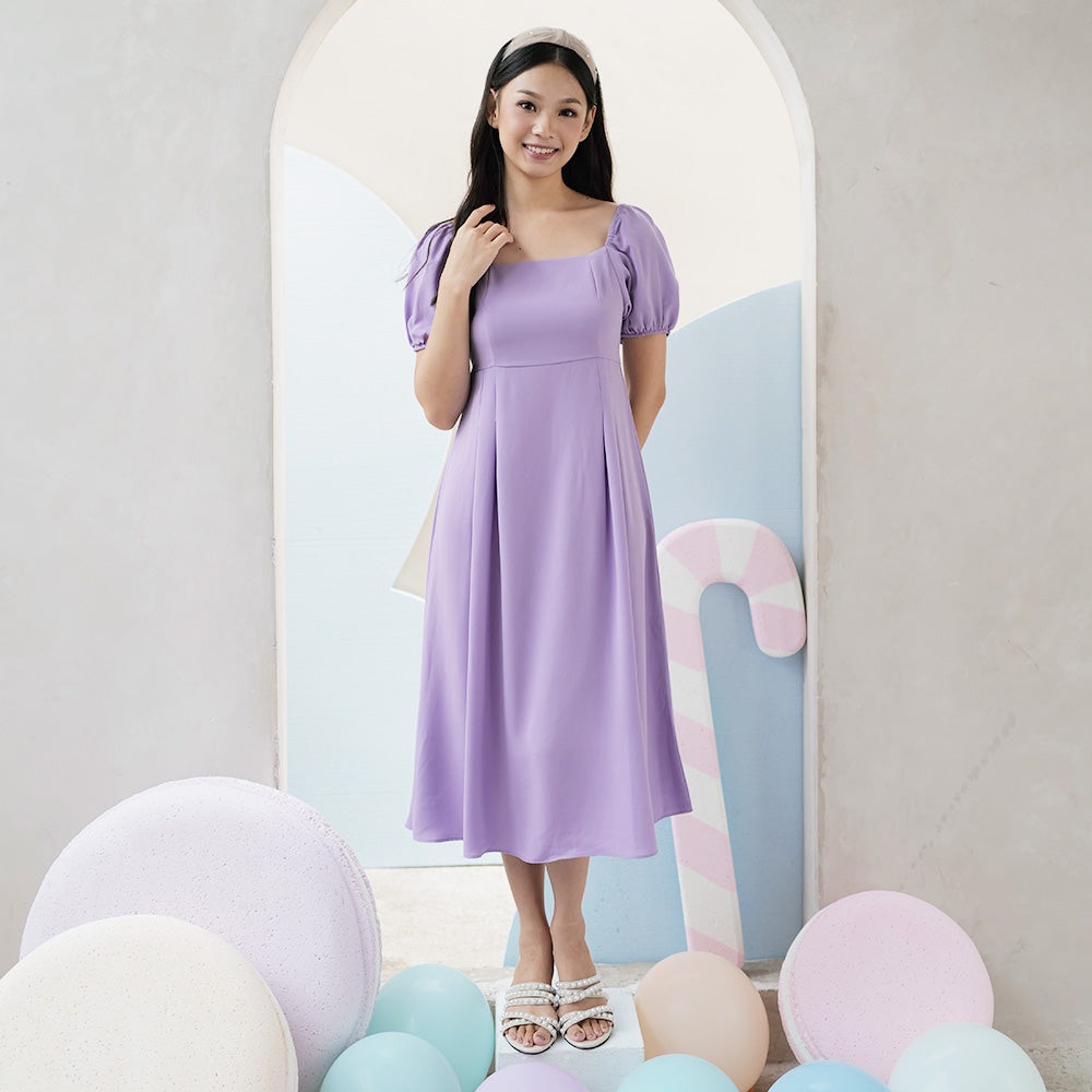 Shiro Simple Midi Dress