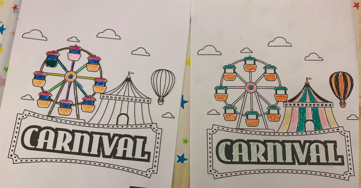 Chard carnival colouring and cart design