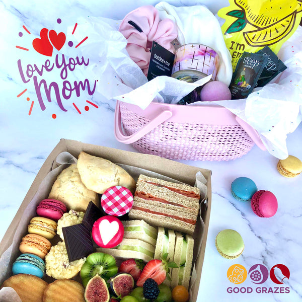 NEW! The AFTERNOON TEA Box, plus gift basket! Exclusively for Mother's Day, May 8-9