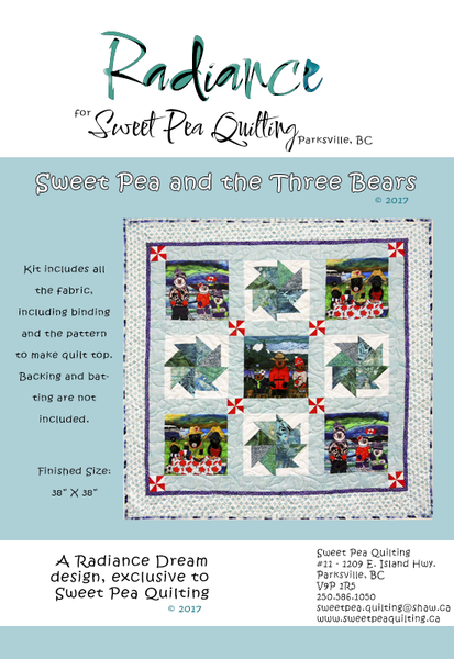 Sweet Pea and the Three Bears Quilt Kit