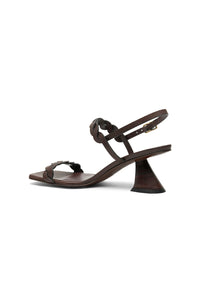 ANTONIA leather slingback sandal - HAZY