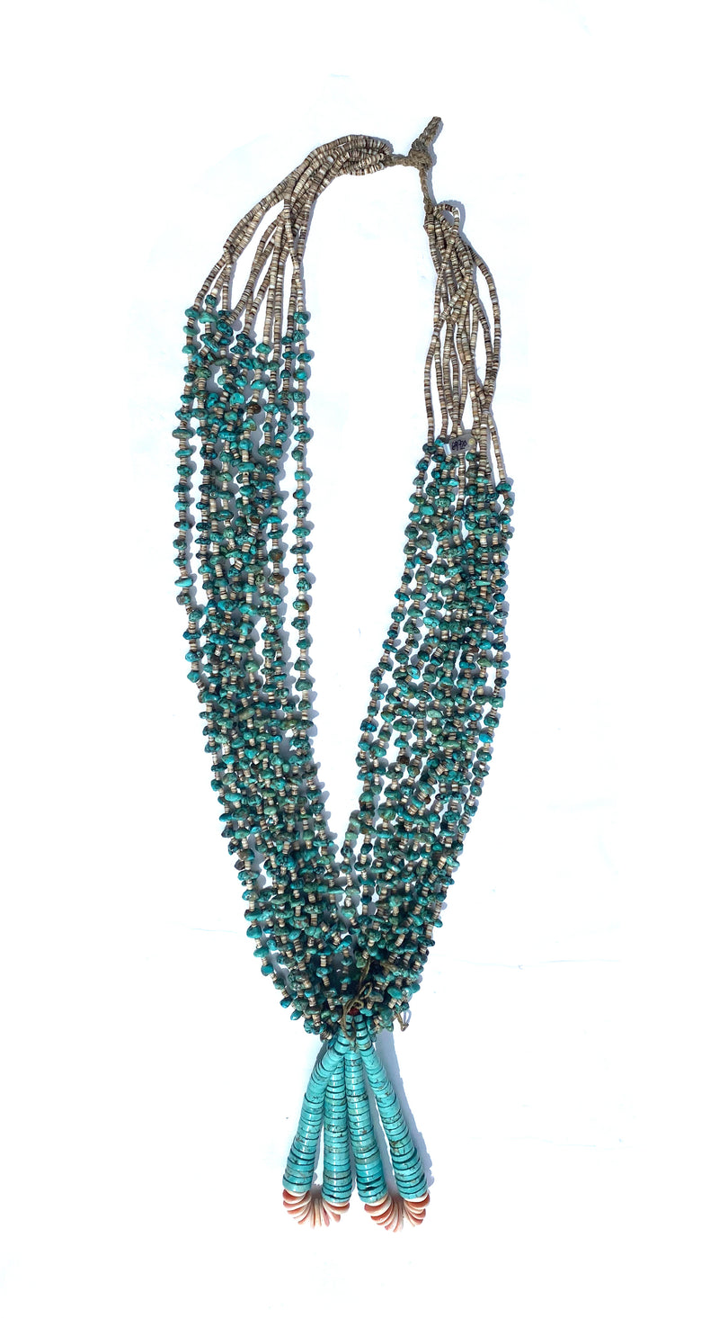 1940's Ten Strand Turquoise Heishi Necklace Jacla Joclas Necklace