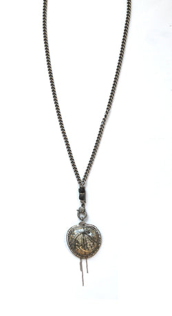 4.5 Million Year Old Sand Dollar Paver Beads Necklace