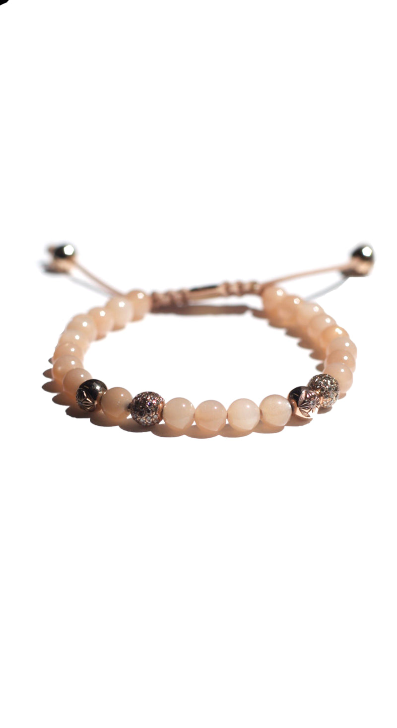 *6mm Bracelet Medium Peach
