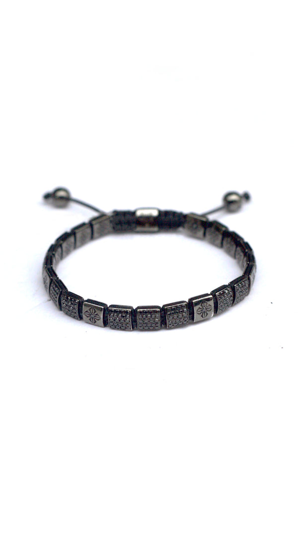 *6mm Lock Bracelet Large Charcoal Grey