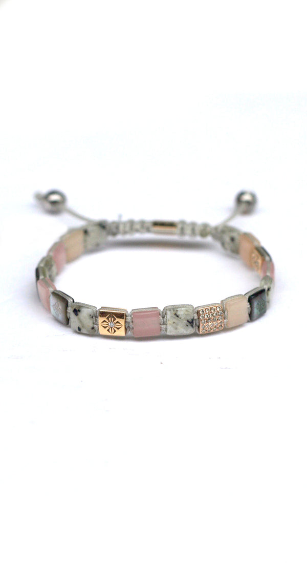 *6mm Lock Bracelet Small Dusty White