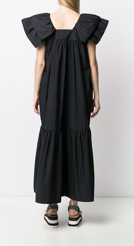 Long Dress Ruffled Top