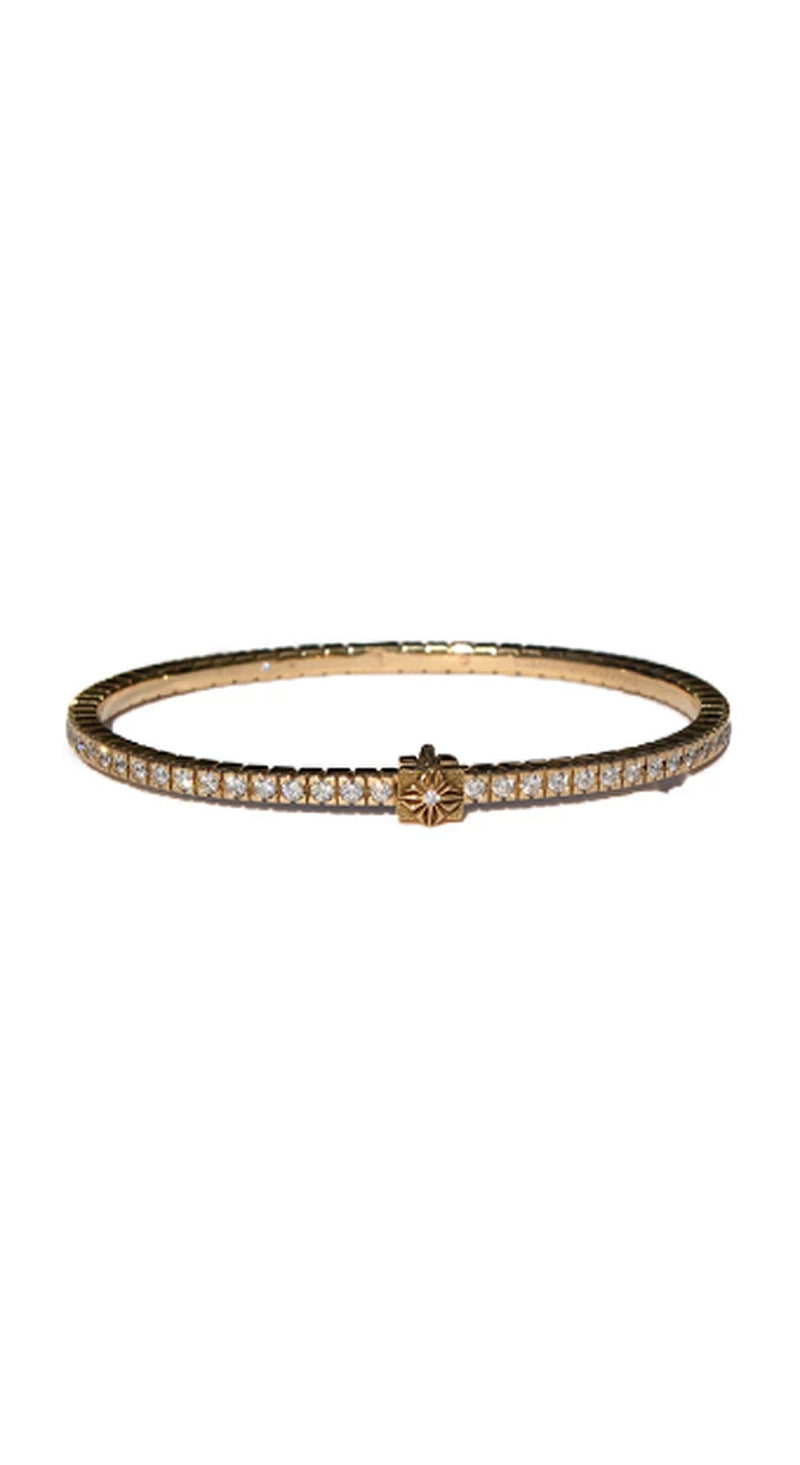 Diamond Rose Gold Clasp Bracelet