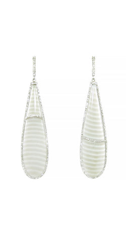 *Natural Chalcedony Teardrops Earrings