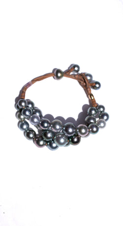 Ocean 35 Pearls 18k Rose Gold Bracelet
