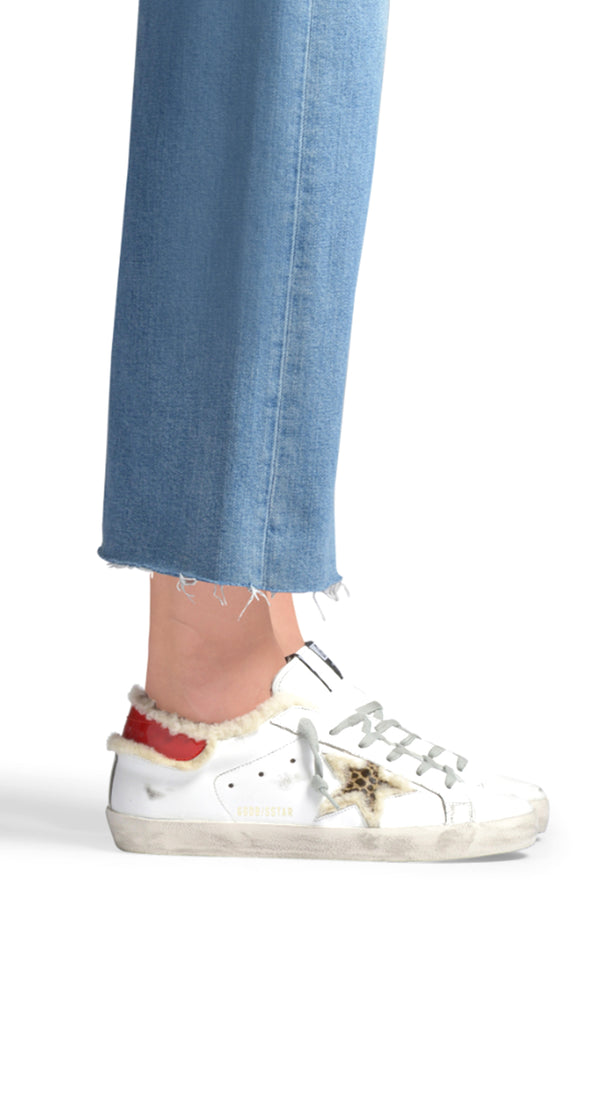 White Shearling Superstar Sneaker