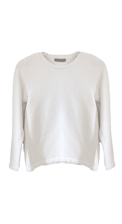 3/4 Sleeve Fitted Sweatshirt