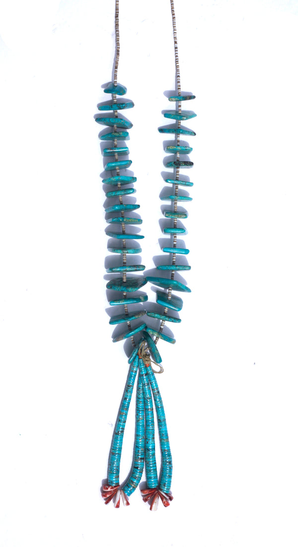 Turquoise Heishi Ceremonial Necklace