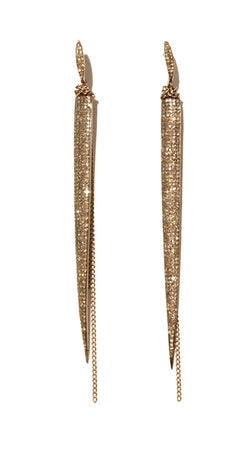Yellow Gold Diamond Spears Earrings