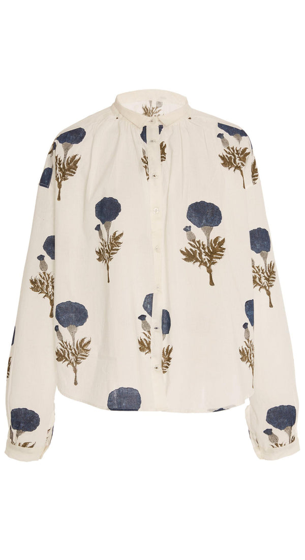 Kiki Blue Flower Shirt