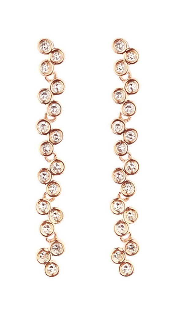 Rose Gold Semilla Earrings