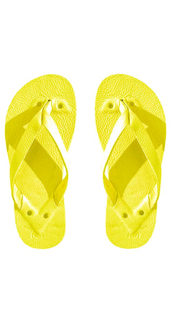 Bright Yellow Flip Flops