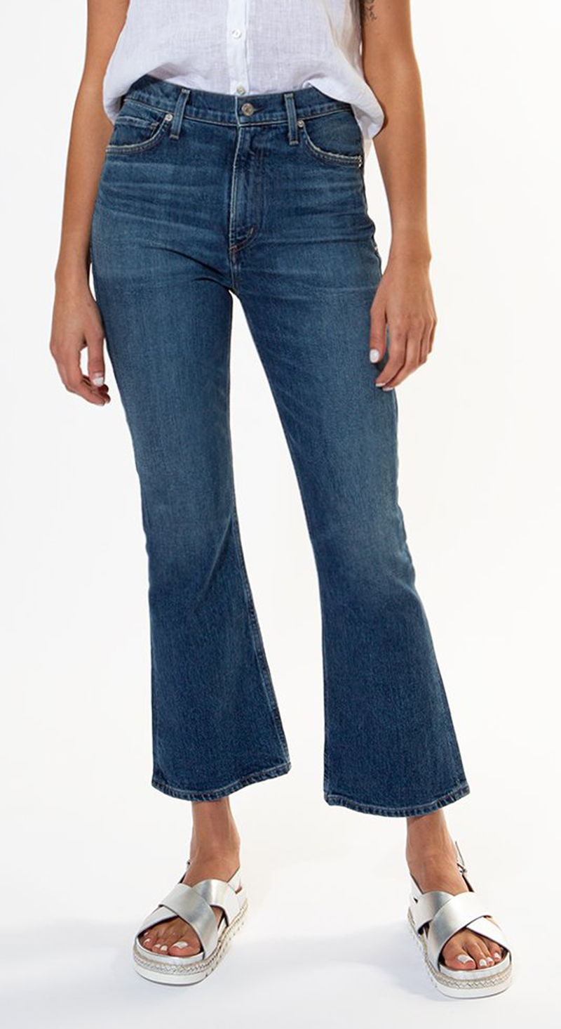 Demy Crop Flare Jeans