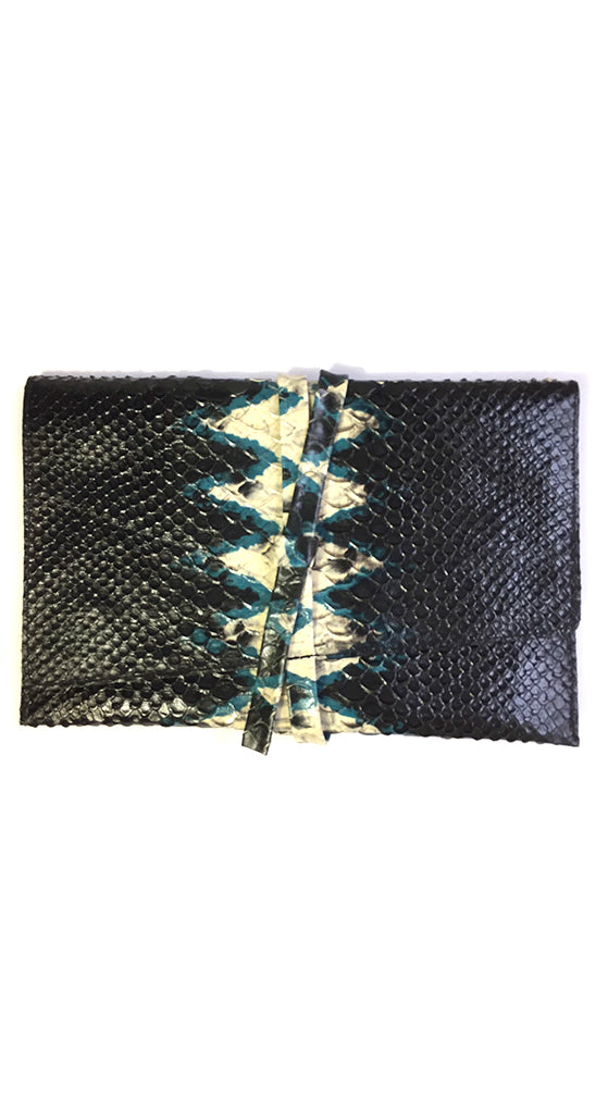Dakota Snake Clutch Blue