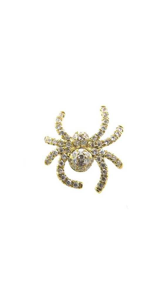 18k Diamond Spider Single Earring